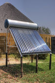 Solar thermal installation — Stock Photo