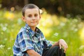 Happy boy outdoor — Stock Photo