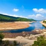 Dam lake Oasa in Romanian mountains — Stock Photo