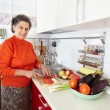 Senior woman in the kitchen — Stock Photo #7237702
