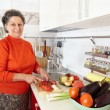 Senior woman in the kitchen — Stock Photo #7237704