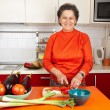 Stock Photo: Senior woman in the kitchen