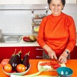 Senior woman in the kitchen — Stock Photo #7237715