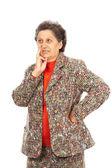 Senior woman isolated on white — Stock Photo