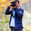 Professional nature photographer — Stock Photo