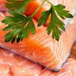 Stock Photo: Red salmon fillet