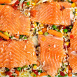 Salmon fillets with garnish — Stok fotoğraf