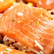 Salmon fillets with garnish — Stock Photo #7731128