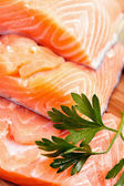 Red salmon fillet — Stock Photo