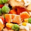 Closeup of frozen vegetables — ストック写真