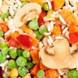Stock Photo: Closeup of frozen vegetables