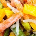 närbild av frysta grönsaker — Stockfoto