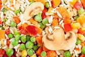 Closeup of frozen vegetables — Stock Photo