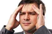 Young man with migraine — Stock Photo