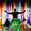 Royalty-Free Stock Vector Image: Party event illustration with dj