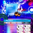 Stock Vector: Party Website Template