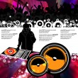 Vector illustration music event with DJ - Stockvectorbeeld