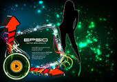 Disco party poster eps10 — Stock Vector