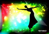 Taniec tło strony — Wektor stockowy