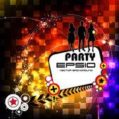 Illustrazione vettoriale del partito di sottofondo musicale — Vettoriale Stock