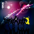 Dancing background party - Stock Vector