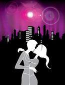 Kissing — Stock Vector