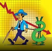 World financial crisis. Business concept. — Stock Vector