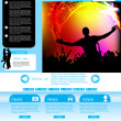 Stock Vector: Web Site Page Template