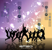 Dancing background party — Stock Vector