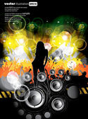 Vector illustration of music background party — Stock Vector