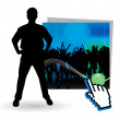 High quality posing silhouettes. Vector illustration — Stock Vector