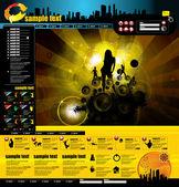 Modèle de page de site Web — Vecteur