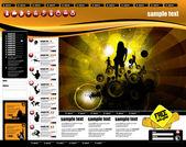 Web 站点的页面模板 — 图库矢量图片