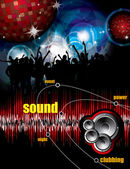 Party Vector Background — Vector de stock