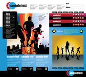 Modello di pagina del sito web — Vettoriale Stock