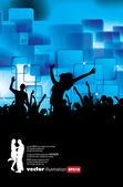 Vectorillustratie van muziek achtergrond partij — Stockvector