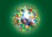 Colorido 3d brilhante abstrato - ilustração vetorial — Vetorial Stock