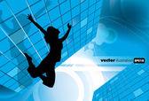 Abbildung von ereignis-poster-vektorgrafiken — Stockvektor