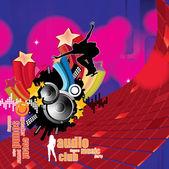 Vektor-illustration musik hintergrund partei — Stockvektor