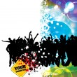 Vector illustration of music background party — Image vectorielle