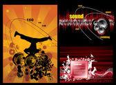 矢量插画的音乐背景方 — 图库矢量图片