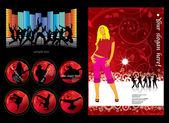 Ilustración vectorial del partido de fondo de la música — Vector de stock