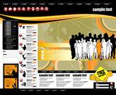 Website template easy to editable — Stock Vector