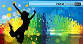 Ilustracja wektorowa muzyka tła strony — Wektor stockowy