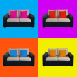 Stock Photo: Warhol armchairs pop-art