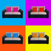 Warhol armchairs pop-art — Stock Photo