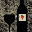 Modern wine glass and bottle menu background - ベクター素材ストック