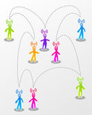 Speech social media interaction — Stock Vector