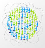Global social media network concept — Stock Vector