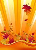 Autumn season background — Stock Vector